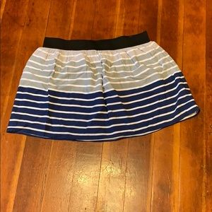 Navy blue and grey skirt